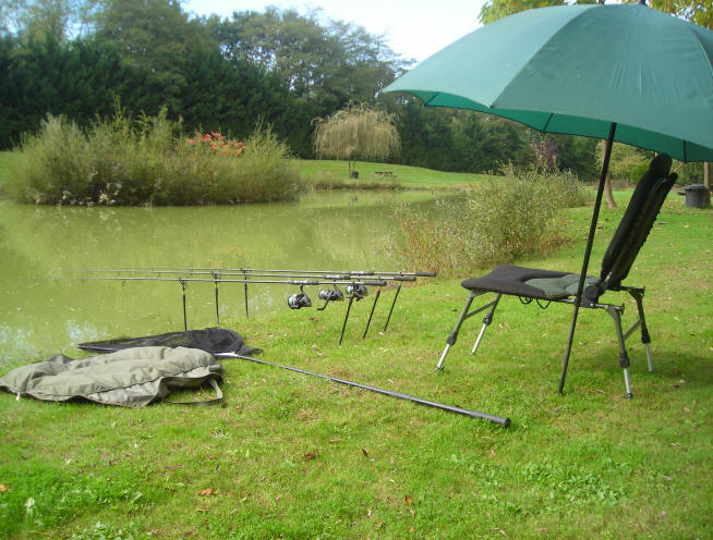 fishing tackle hire from smallwater carp fishing lakes france, Reel Combo